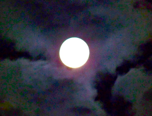 Full Moon with Clouds by WETCLOUD