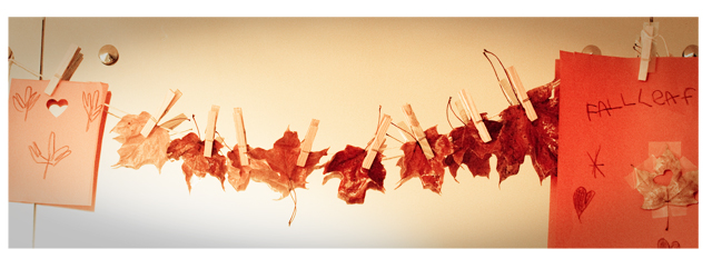 Preserving Fall Leaves - Banner