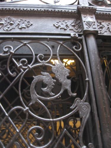 09-25-11-CA-LA-LAVA walking tour-demons on the elevator door of a wonderful old building.jpg
