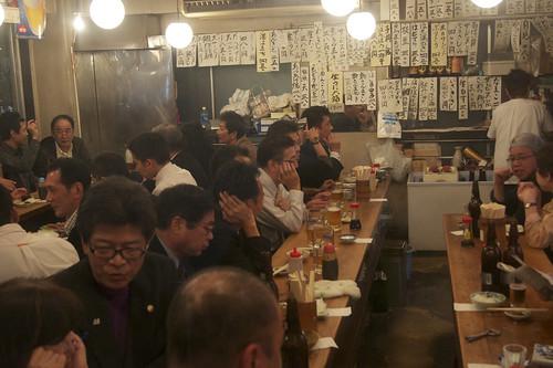 Busy restaurant in Koto-Ku, Tokyo