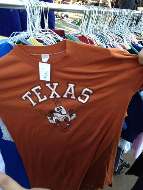 UT Longhorn t-shirt.