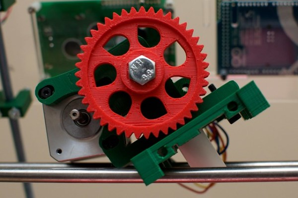 Prusa Mendel: extruder (not mounted nor fully assembled)