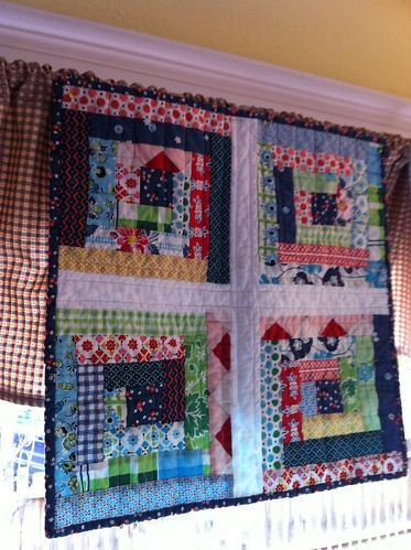 Red Roof Mini Quilt