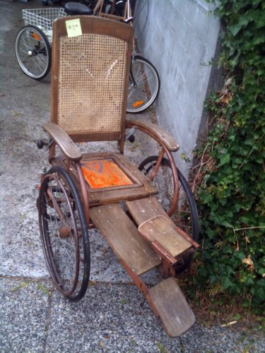 Wicker wheelchair