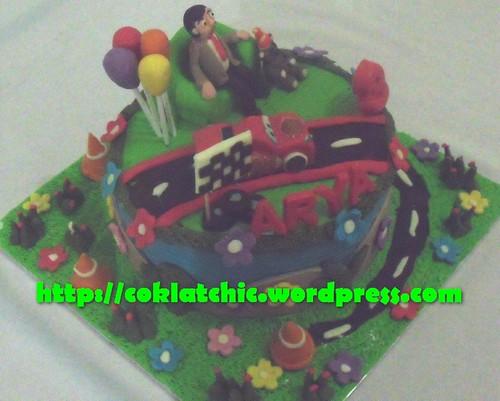 Cake Mr Bean dan cars