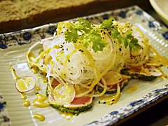 Flamed tuna carpaccio with radish and yuzu salad, Open Door Policy, Yong Siak Street, Yong Siak View, Tiong Bahru Estate