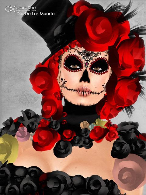 + eX + Dia De Los Muertos *make-up