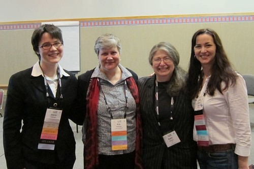 Jessica Dickinson Goodman, Katy Dickinson, Radia Perlman, Valerie Bubb Fenwick at Hopper Conference 2011