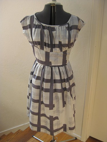 gray ghost plaid dress