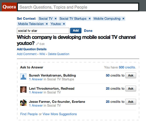 Nice incentive on Quora by Philjeudy