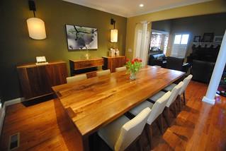 Black Walnut Dining Room Set