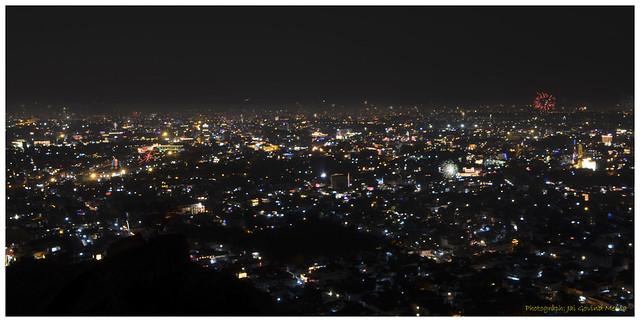 Jaipur's Diwali from Nahargarh Fort