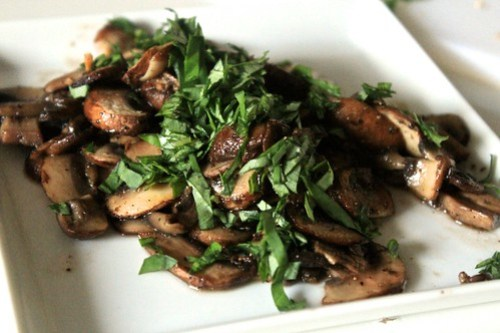Mushrooms, Basil