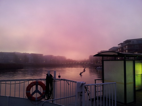 Beautiful morning on ferry Lisen
