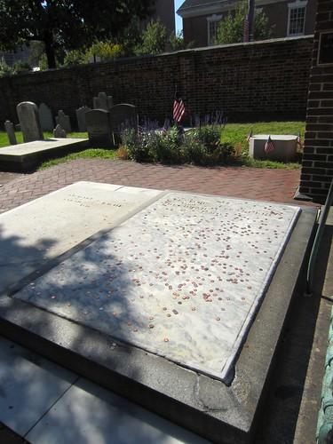 ben franklin's grave