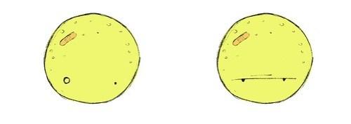 Menino Lua: Expressões faciais Estranhando e Puto