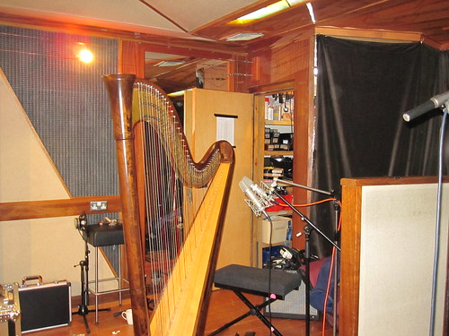 The harp awaits her big day