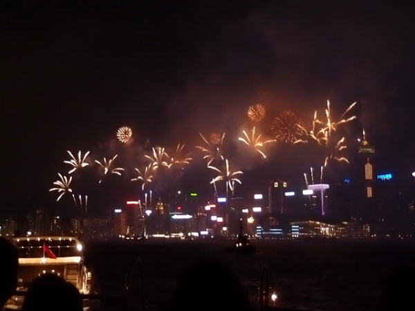 Fireworks for National Day