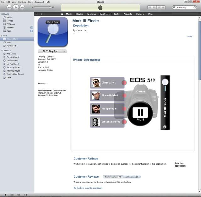 5D Mark III Finder App