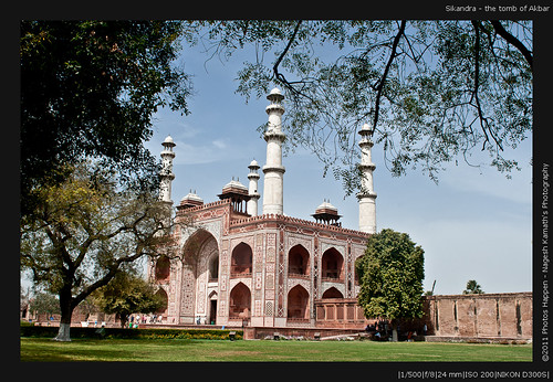 Sikandra - the tomb of Akbar
