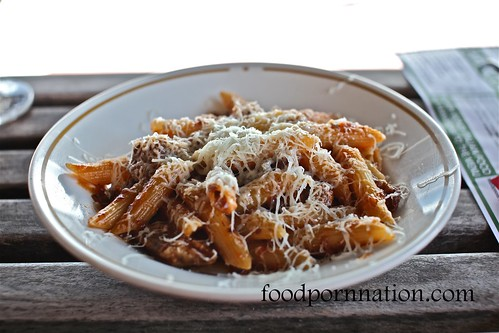 Penne 'rigate' slow cooked lamb neck, shoulder ragu, pecorino sardo G_0781