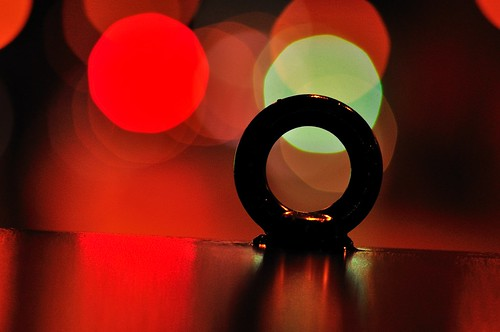 Ring with Red Lights by hidesax