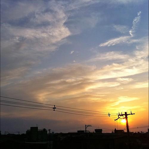 夕暮れだねぇ~! 今日もお疲れさまでした。 #sunset #iphonography #instagram