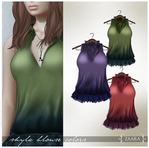 Zaara : Shyla Blouse colors 2