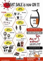 Mode de vie Post Raya Sale 10 Oct - 30 Nov 2011