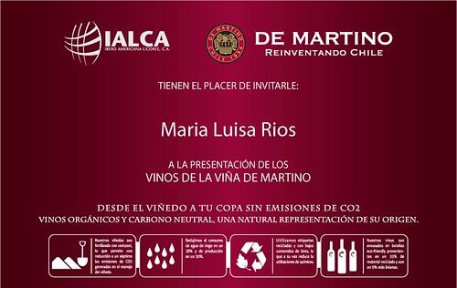 Invitacion DE MARTINO