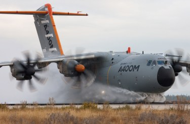 A400M Water ingestion test