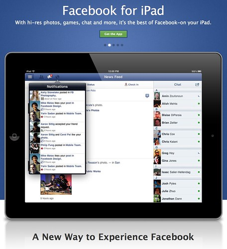 Facebook iPad app (i'm using this for a blog post)