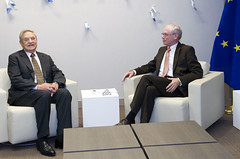 President Van Rompuy meets George Soros, Chair...