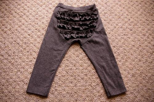 Ruffle Bum Leggings - back