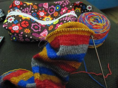 socks in progress