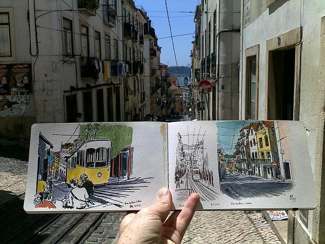 contrastes, rua da bica