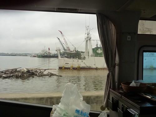気仙沼の冠水, 陸前高田でボランティア(帰路) Japan Quake Volunteer Bus to Tohoku (northeastern) region