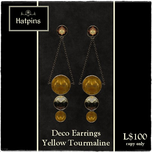 60L Item - Deco Earrings - Yellow Tourmaline