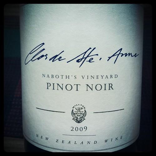 Clos de Ste. Anne Pinot Noir 2009, Millton Vineyard by mengteck