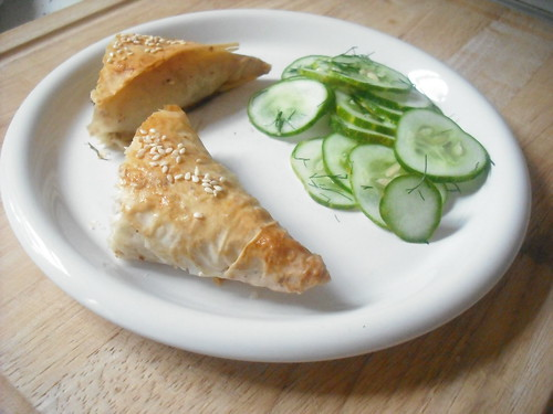 Zucchini-Fennel Phyllo Triangles