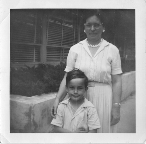 Mike 5yrs & Mrs. Ossian 1959