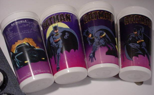 Taco Bell Batman collector cups