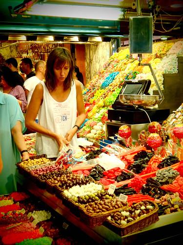Sweets in La Boqueria Market