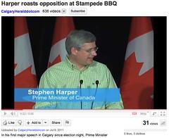 20110709 Harper roasts opposition at Stampede BBQ