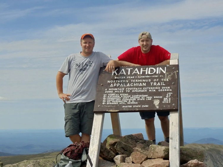 Atop Katahdin's Baxter Peak, elevation 5267 feet
