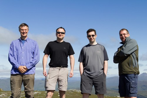 Alistair, Danny, Ian and Allan on Ben Vane