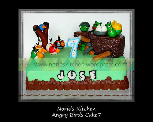 Norie's Kitchen - Angry Birds Cake 7