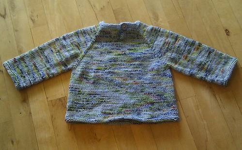 Oppe-fra-ned sweater str. 2 år