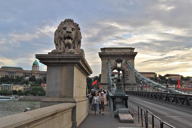 Pont à chaînes, Budapest, Hongrie