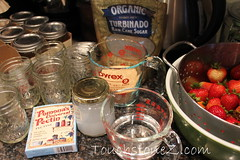 Strawberry Freezer Jam Ingredients
